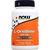 L-Ornithine 500 mg - 120 gelules - Now foods