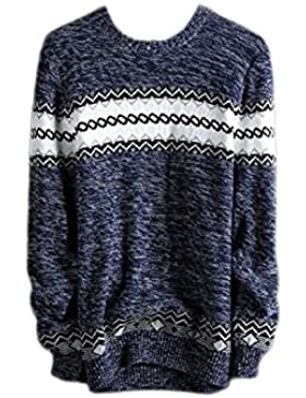 Mens Brave Sweater Jumper Pullover Clásico Jersey Casual Top Manga Larga Stylish Warm Pullover Knitwear