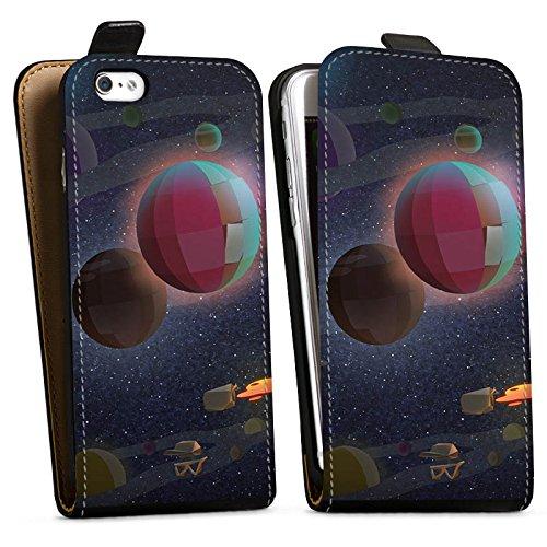 Apple iPhone X Silikon Hülle Case Schutzhülle Rocket Beans TV Bohnen Weltraum Downflip Tasche schwarz