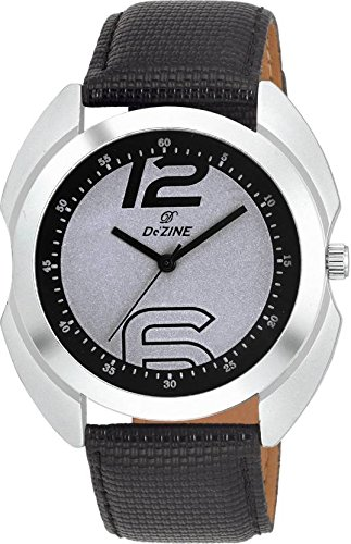 Dezine DZ-GR030-SLV-BLK  Analog Watch For Unisex