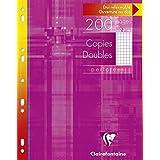 ClaireFontaine - Réf 47122C - Un Étui Carton de 200 Pages Copies Doubles Perforés Petits Carreaux avec Marge A4 90 g vendu à l'Unité