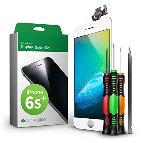 GIGA Fixxoo kompatibel mit iPhone 6s Plus Komplettes Display Ersatz Set Weiß, LCD mit Touchscreen, Retina Display, Kamera & Näherungssensor - Einfache Installation für Do-It-Yourself