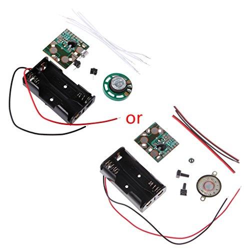JENOR DIY Elektronisches Kit Sprachaufzeichnung IC-Modul Mini Digital Chip Recorder Music Card