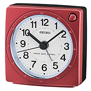 Seiko Unisex Analogue Plastic Alarm Clock, red QHK201R