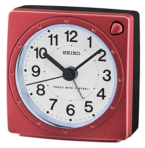 Seiko Unisex Wecker Analog Kunststoff rot QHR201R