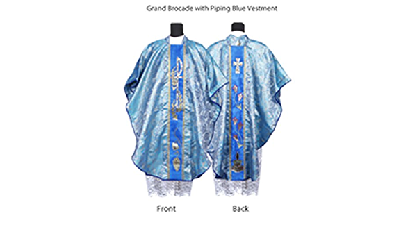 Buy Kanya Krafts - Catholic Priest Chasuble/Vestment Grand Piping BlueColor  Online at Low Prices in India - Amazon.in