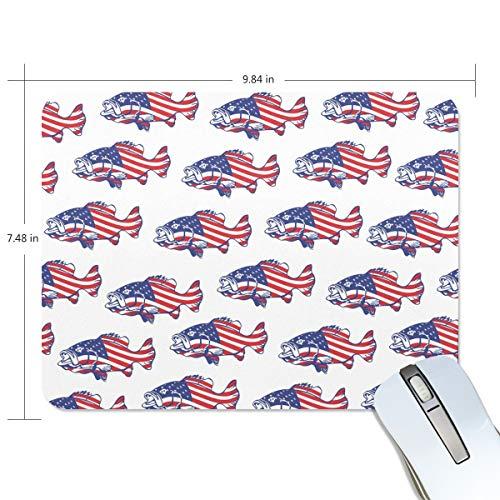 FANTAZIO Mauspad mit amerikanischer Flagge, dicke Computer-Tastatur, rutschfeste Gummiunterseite, Mauspad für PC Gaming oder Arbeiten