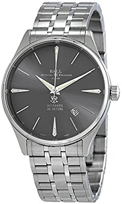 Ball Trainmaster Legend Watch, Ball RR1103, Grey, Steel bracelet, NM3080D-SJ-GY
