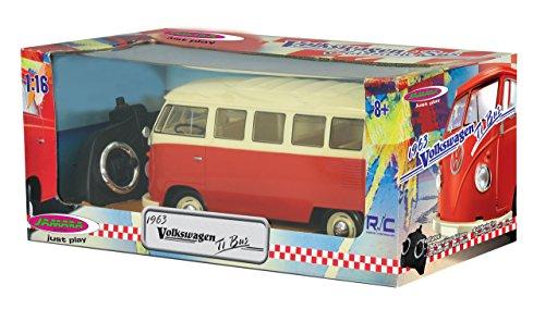 RC Auto kaufen Spielzeug Bild 6: Jamara 405119 - VW T1 Classic Bus 1:16 1963 2 Kanal 2,4GHz - LED, detailgetreuer Innenraum, Fahrzeugdetails in Chrom: Scheibenwischer, Radkappen, Außenspiegel, Türgriffe, Scheinwerfereinfassungen*