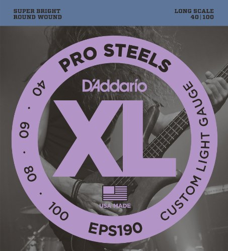 DADDARIO EPS190 XL PROSTEELS CUSTOM LIGHT   CUERDAS PARA BAJO ELECTRICO ( 040  100) TENSION BAJA