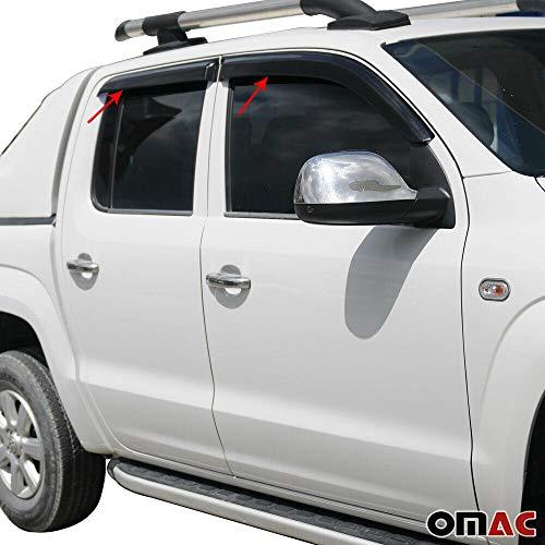 OMAC GmbH Windabweiser Regenabweiser für Amarok ab 2011 4-TLG Schwarz