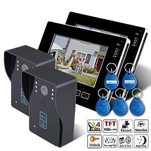 keedox portier interphone avec fil cam ra de surveillance interphone vid o sonnette intercom. Black Bedroom Furniture Sets. Home Design Ideas