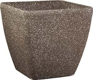 Stein SK Series aus Gusseisen 28 cm Stone aus Sandstein, rund, Mokkabraun, 2 Stück