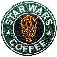 Star Wars Coffee Darth Maul ricamato toppa, Star Wars Coffee giacca verde distintivo fai da te abbigliamento Frabic accessori
