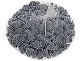 Unbekannt Streudeko Steine Deko Kieselsteine Tischdeko Anthrazit Grau Weiß Braun Kommunion Konfirmation Hochzeit, Farbe:Anthrazit
