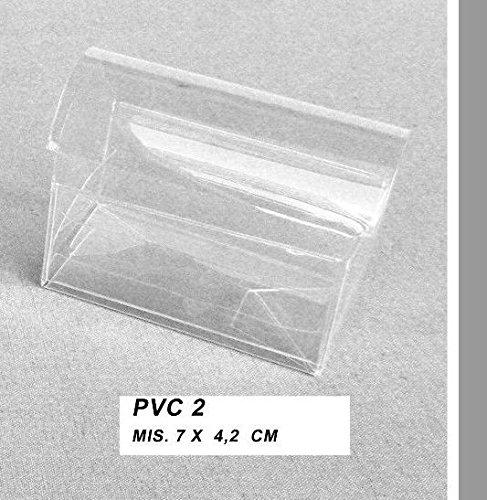 set 50 pezzi, scatolina pvc portaconfetti BAULE, CM 7X4,2. (ckpvc2)
