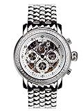 André Belfort 410142 - Reloj analógico de mujer automático con correa de acero inoxidable...