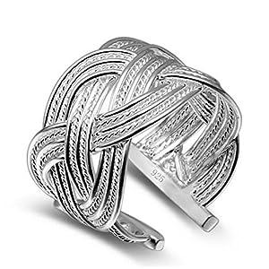 emorias 1PCS Creative Design Frau Ring Fashion Beautiful offen Ring Jewelry Accessories Ring kann verstellbar Lover Geschenk