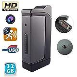 Yonis–Accendino microcamera Tempesta HD 720P mini macchina fotografica USB 32GB