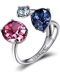 Mujer de latón anillo con cristales de Swarovski multicolor Brosway BFF33B diversas medidas