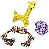 Paquete de 3 juguetes para perros, juguetes de cuerda para masticar para perros pequeños y medios