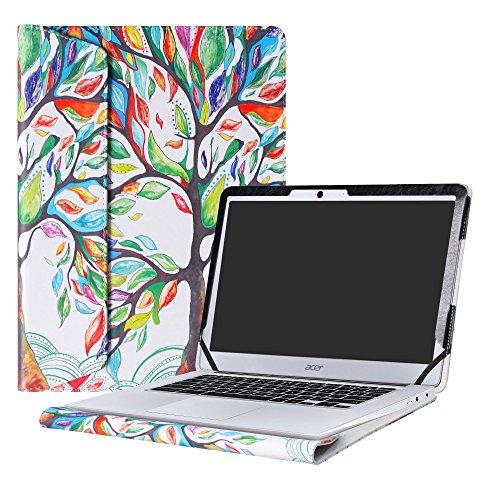 """Alapmk Schutz Abdeckung Hülle für 14"""" Acer Chromebook 14 CB3-431 CB3-431-C6UD CB3-431-C6H3 CB3-431-C6V9 CB3-431-C1AN Notebook,Love Tree"""