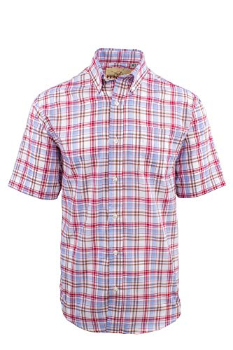 Fenside Country Clothing - Camisa Casual - para Hombre Rojo Rosso XXX-Large cc814702461
