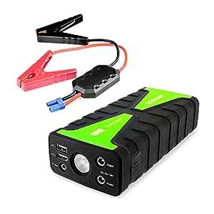 Archeer Jump Starter Booster de Batterie 800A Courant de Crête Démarreur de Saut Portable de Voiture Power Banque 16800mAh Capacité (Torche LED Encastré, 1A & 2.1A USB Ports de charge)