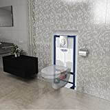 Pack WC suspendu complet GROHE couleur blanche avec une plaque Double touche