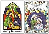 Pack von 10modernen Religiöse Weihnachtskarten. Mosaik Designs. exklusiven Karten, Aufdruck Englisch