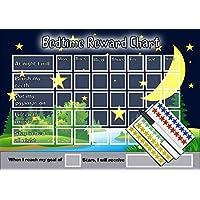 Bedtime Night time Reward Chart - Kids Childrens Sticker Star - Sleep In Own Bed