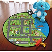 Carpet Round Boys Maze Game Rugs Home Decoration Soft Flannel Baby Crawling Rugs Kids Bedroom