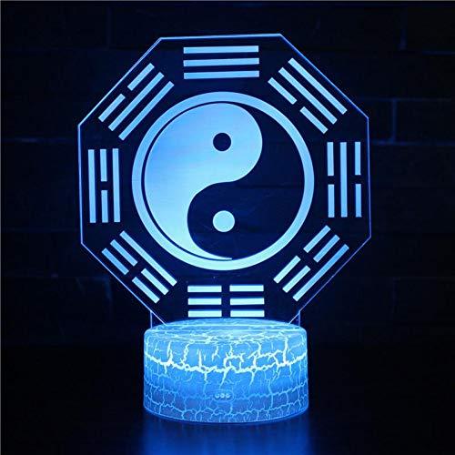 Zyue Dental 3D Nachttischlampen Männer und Frauen Geburtstagsgeschenke Tisch Schreibtischlampe USB 3D Nachtlichter,A10 - Dental-bagger