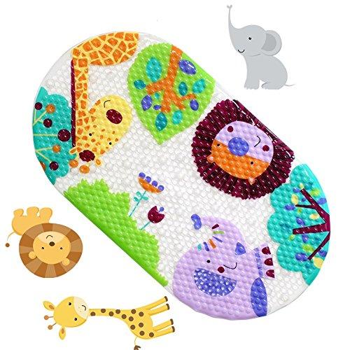Anlass Kids Cartoon Non Slip Mats Mildew Resistant Non Slip Mats for Children Lion (Fisch Handtuch Haken)