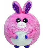 TY 38045 - Beanie Ballz Carnation Ball - Hase Plüschtiere, ø 12 cm, pink
