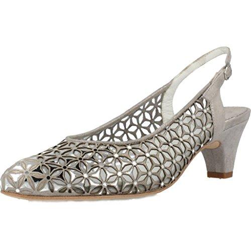 Zapatos TAC�n, Color Gris Acero, Marca ARGENTA