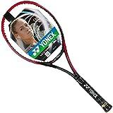 Yonex VCORE SV 95, Rot/Schwarz, Tennis Schläger mit mit Masche Bunte Farben, Black String, 4 1/2 Inches