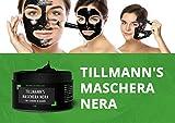 MASCHERA PUNTI NERI - MASCHERA VISO NERA - MASCHERA CARBONE - Maschera Nera purificante con carbone di bambù, per una profonda Pulizia del Viso - Elimina i Punti Neri e le Impurità della pelle - Effetto Purificante - Uomo e Donna - 120 grammi