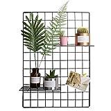 40 * 80 cm DIY Eisen Gitter der Foto Multifunktion Gitterwand Deko Memo Brett Organisator Regale Hängen in der Familie Küche Büro und so weiter