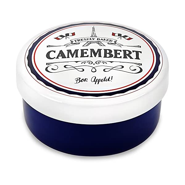 Andrew James Camembert Baker | Rustic Porcelain French Style Ceramic Baking Dish For Cheese Such As Brie & Other Soft Cheeses | 15cm Diameter 51ADq6xAcsL