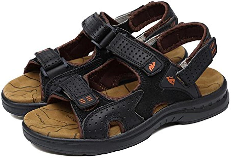 Mr. Sober Sandalias de Cuero Vintage para Hombre Sandalias de Playa Transpirables y cómodas Zapatos de vadear...