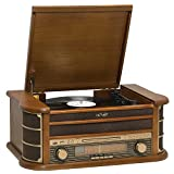 Denver MCR-50 retro muziekcentrum met platenspeler bruin