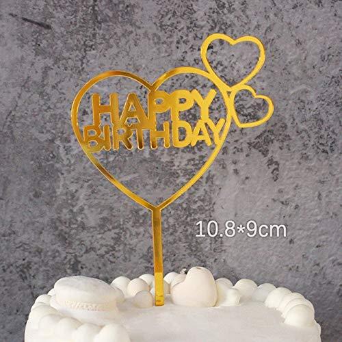 LOVEPAI Little Star Süße Engelsflügel Cake Topper Set Alles Gute Zum Geburtstag Kuchen Dekoration Flamingo Party Cake Topper Dekoration Baby-DuscheDgzs-119-Gold13