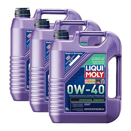 3x LIQUI MOLY 1361 Synthoil Energy 0W-40 Motoröl Vollsynthetisch 5L