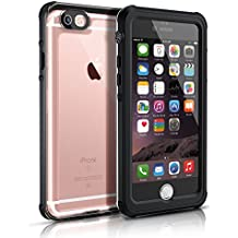 Funda Impermeable para iphone 6/6s(4.7 inch),Easylife IP68 Transparente Carcasa Anti-agua A Prueba de Golpe Cerrado Cabalmente Perfectamente Portátil(Negro)