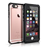 iPhone 6S Waterproof Case, Easylife IP68 Certified Extreme Durable Waterproof Shockproof Full Sealed Perfectly Fit iPhone 6S/6 (Black&Crystal)