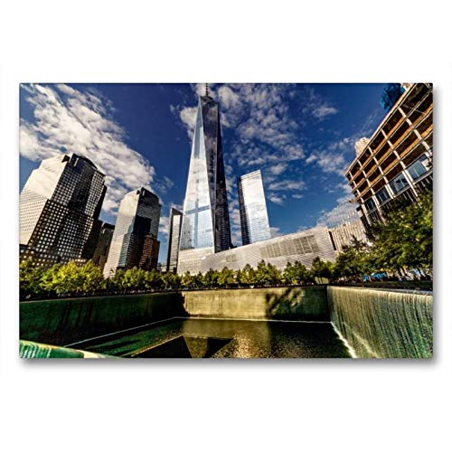 CALVENDO Tela in Tessuto 90 cm x 60 cm Orizzontale, One World Trade Center in New York, Immagine su Telaio, Realizzata su Tela Il One World Trade Center Orte