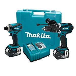 MAKITA DK18000 18V LXT Lithium-Ion 2 Piece Cordless Kit (2 Battery Version)