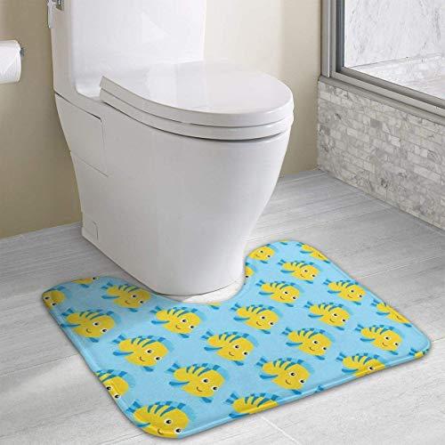 Hoklcvd Fisch Rutschfeste Kontur Badematte für Toilette, saugfähiges Wasser, perfekt für Badezimmer. Kaufen Sie online Badematten zu den besten Preisen