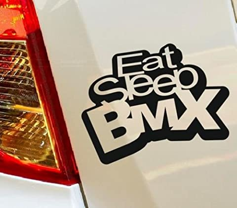 Eat Sleep BMX Drift Hobby Funny car bumper window funny